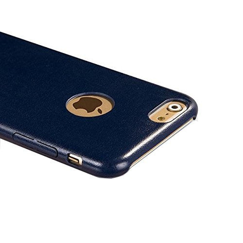 Kapa 1mm Ultra Thin Leather Finish Soft Back Case Cover for iPhone 5 5S - Blue - Mobizang