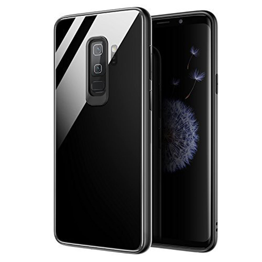 Toughened Glass Back Shock Proof Slim Case Cover for Samsung Galaxy S9+ PLUS - Mobizang