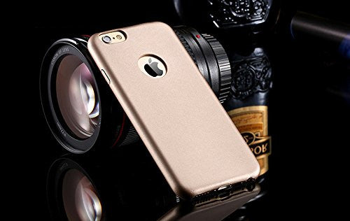 Kapa 1mm Ultra Thin Leather Finish Soft Back Case Cover for iPhone 5 5S - Gold - Mobizang