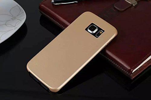 Kapa 1mm Ultra Thin Leather Finish Soft Back Case Cover for Samsung Galaxy S6 - Gold - Mobizang