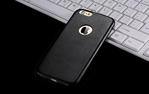 Kapa 1mm Ultra Thin Leather Finish Soft Back Case Cover for iPhone 5 5S - Black - Mobizang
