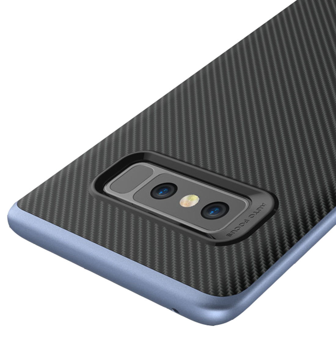 Hornet-II Ultra Thin Carbon Finish Shockproof Back + Bumper Case Cover for Samsung Galaxy Note 8 - Grey - Mobizang