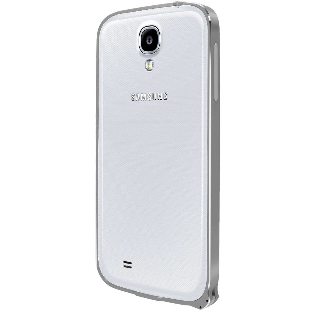 Kapa Ultra Thin Aluminum Metal Bumper Frame Case Cover for Samsung Galaxy S4 - Silver - Mobizang