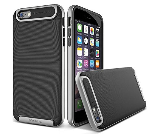 Kapa Ultra Slim Dual Layer Shockproof Back Case Cover for iPhone 6 - Silver - Mobizang