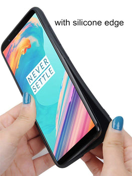 Suit Fabric Luxury Hybrid Protective Shock Proof Case Cover for Oneplus 5T - Mobizang