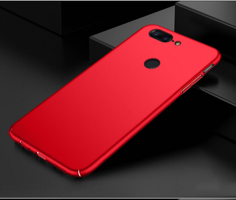 Silk Smooth Finish [Full Coverage] All Sides Protection Slim Back Case Cover For Oneplus 5T - Red - Mobizang