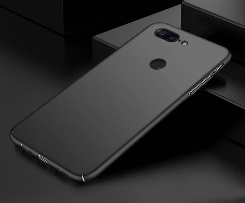 Silk Smooth Finish [Full Coverage] All Sides Protection Slim Back Case Cover For Oneplus 5T - Black - Mobizang