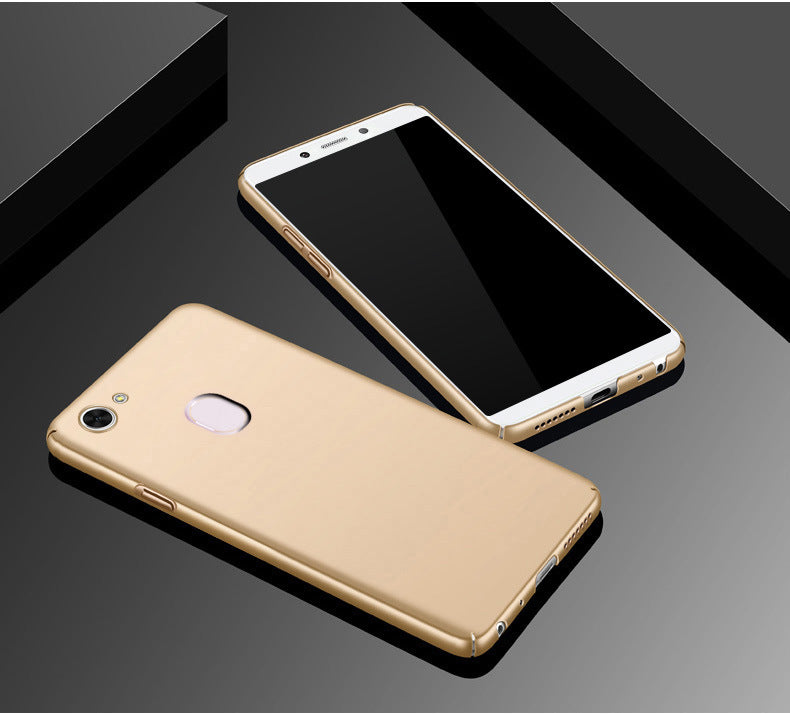 Silk Smooth Finish [Full Coverage] All Sides Protection Slim Back Case Cover For Oppo F5 - Gold - Mobizang