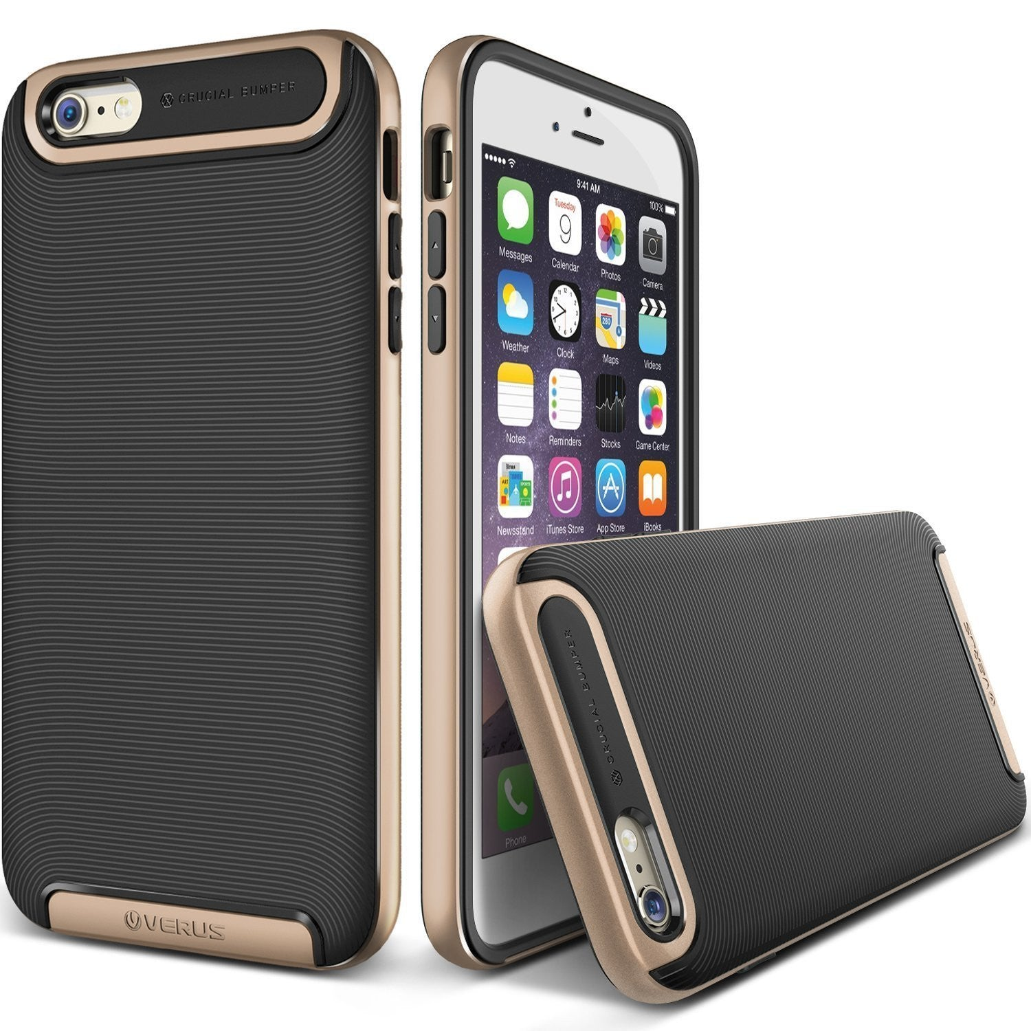 Kapa Ultra Slim Dual Layer Shockproof Back Case Cover for iPhone 6 - Gold - Mobizang