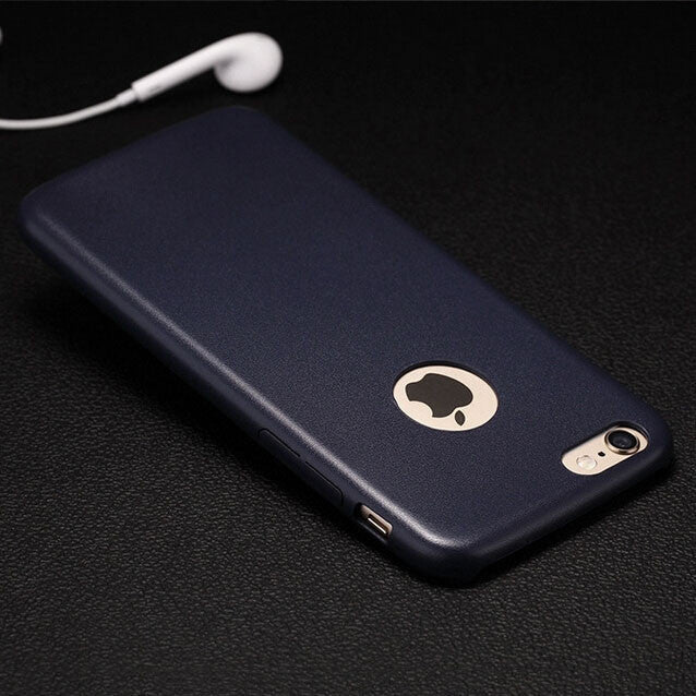 Kapa 1mm Ultra Thin Leather Finish Soft Back Case Cover for Apple iPhone 6 - Blue - Mobizang