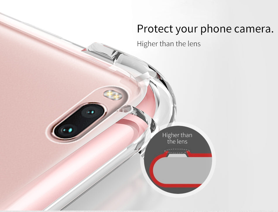 Shock Proof Air Bag Cushions Flexible Transparent Back Case Cover for Xiaomi Mi A1 - Mobizang