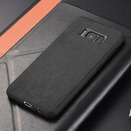 Italian Super Fine Suede Fabric Luxurious Protection Case Cover for Samsung Galaxy S8 - Mobizang