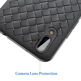 Anti Skid Weave Pattern Heat Radiating Shock Proof Flexible Back Case Cover for Vivo V11 PRO - Mobizang
