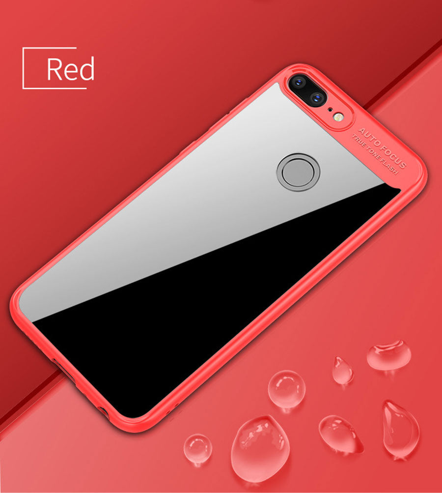 Lens Protector Clear Acrylic Shock Proof Protection Back Case Cover for Honor 9 LITE - Red - Mobizang