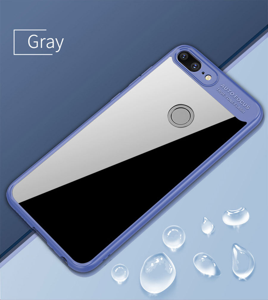 Lens Protector Clear Acrylic Shock Proof Protection Back Case Cover for Honor 9 LITE - Blue - Mobizang