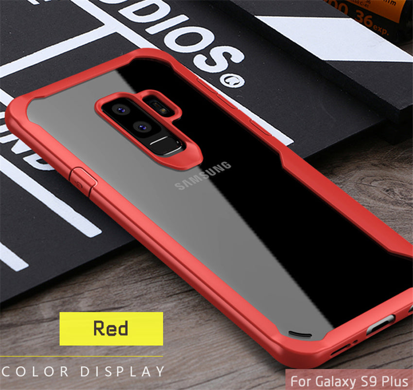 Shock Proof Armor Acrylic Transparent Back Case Cover for Samsung Galaxy S9+ (PLUS) - Mobizang