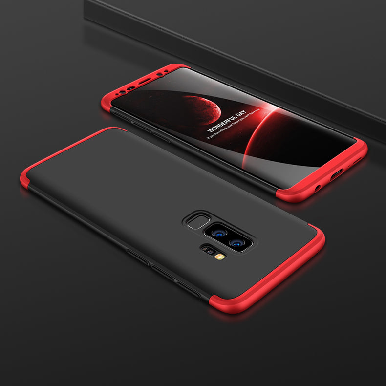 3 in 1 - 360° Full Protection Body Case Cover for Samsung Galaxy S9+ (PLUS) - Red , Black - Mobizang