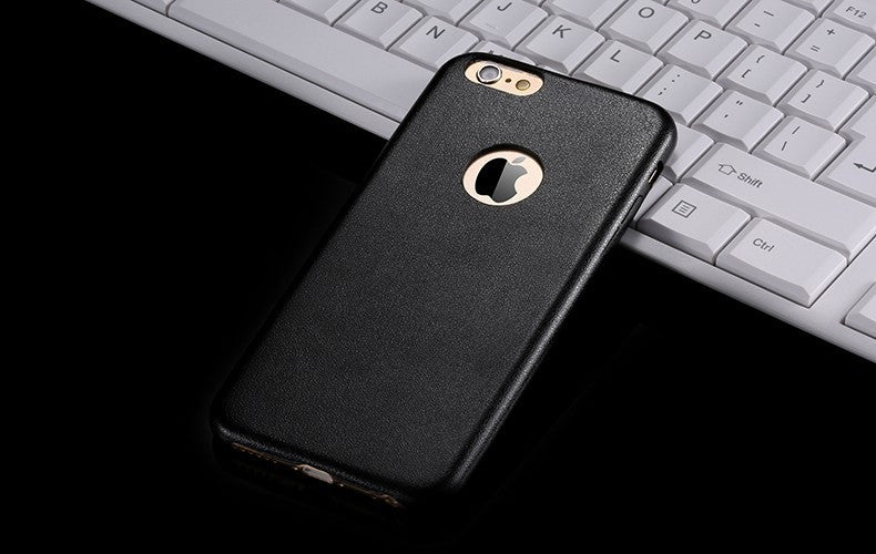 Kapa 1mm Ultra Thin Leather Finish Soft Back Case Cover for Apple iPhone 6 - Black - Mobizang