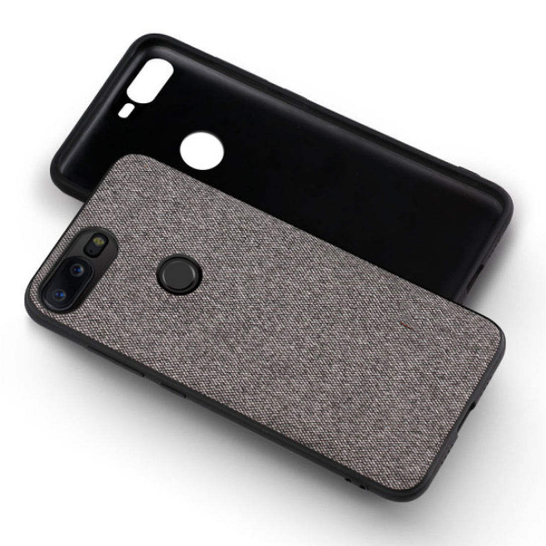 pretty nice 6d8c7 5a212 Fabric Hybrid Protective Case Cover for Oneplus 5T - Grey