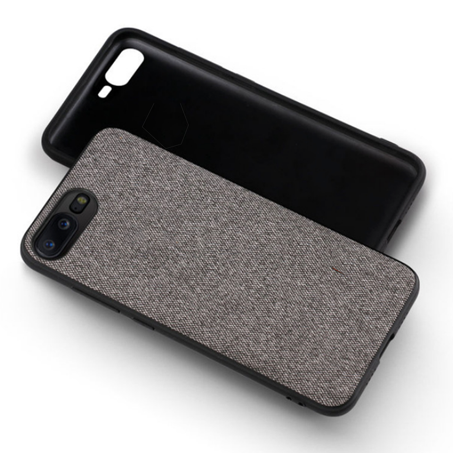 Fabric Hybrid Protective Case Cover for Oneplus 5 -  Grey - Mobizang