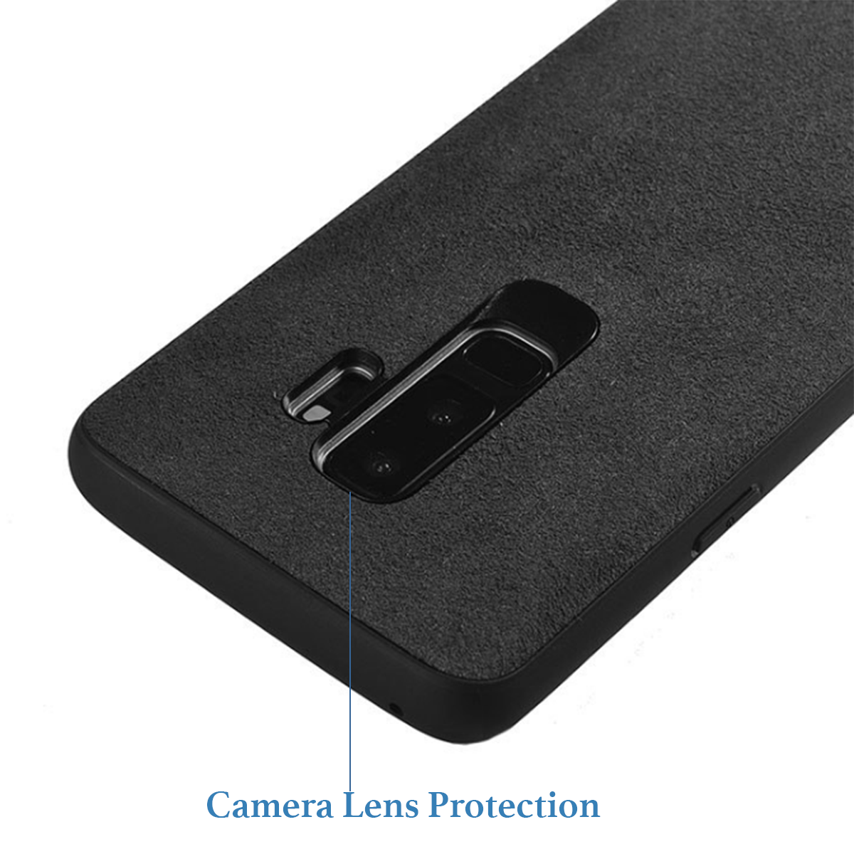 Italian Super Fine Suede Fabric Luxurious Protection Case Cover for Samsung Galaxy S9+ PLUS - Mobizang