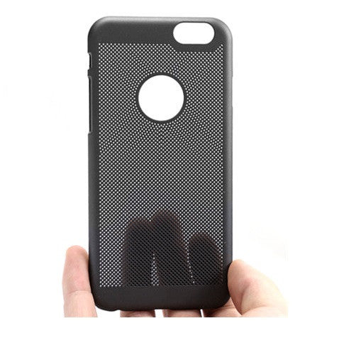 Loopee Heat Dissipation Hollow Thin Hard Back Case Cover for iPhone 6 - Black - Mobizang