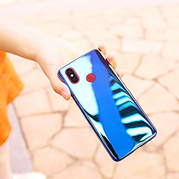 Aurora UV Blue Radiation Color Changing Back Case Cover for Xiaomi Mi A2 - Mobizang