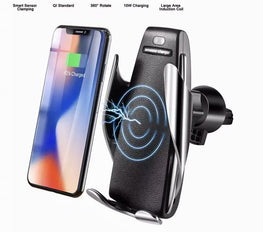 Automatic Clamping Wireless Car Charger Mount - Mobizang