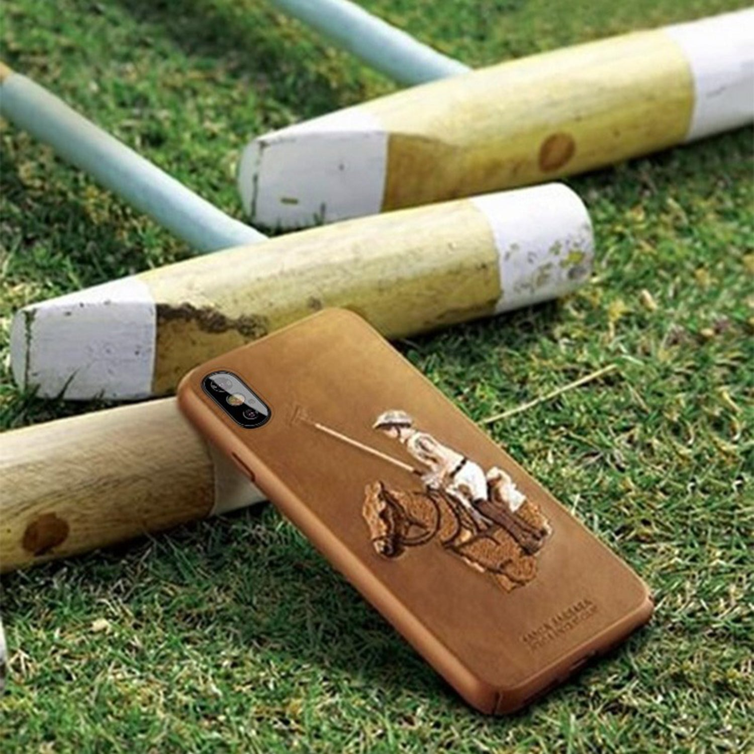 Polo Racquet Club Jockey Leather Back Case Cover for Apple iPhone XR - Mobizang