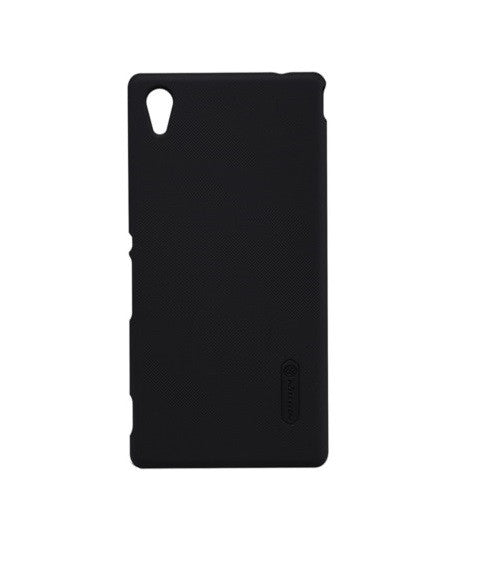 Nillkin Frosted Shield Hard Back Case Cover for Sony Xperia M4 Aqua Dual + Screenguard - Black - Mobizang