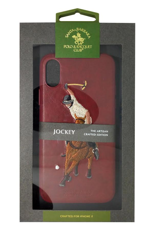 Polo Racquet Club Jockey Leather Back Case Cover for Apple iPhone XS MAX - Mobizang
