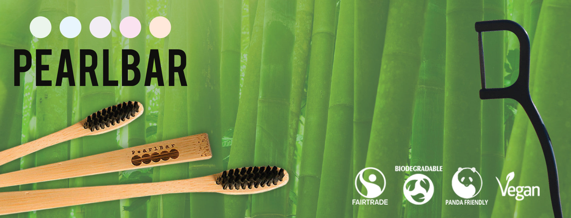 Pearlbar bamboo toothbrushes