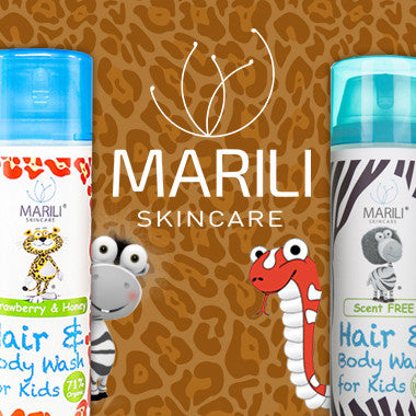 Marili Kids skincare products