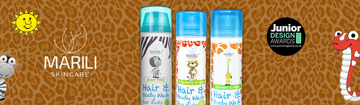 Marili organic skincare products for children