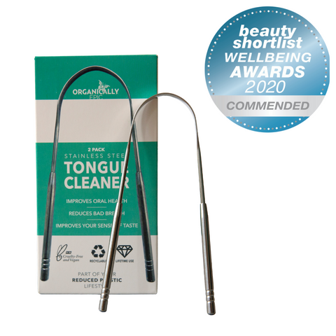 Organically Epic Stainless Steel Tongue Scraper