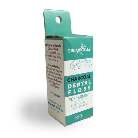 BRAND NEW - REFILLS - Charcoal and Peppermint Vegan Dental Floss