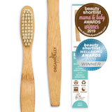 biodegradable kids bamboo toothbrush