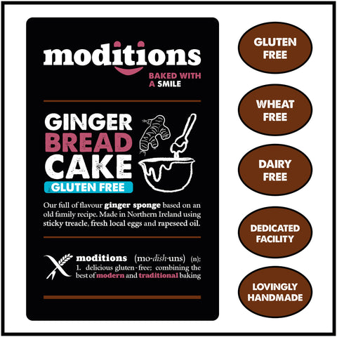 Moditions Gluten Free Gingerbread Cake Dairy Free