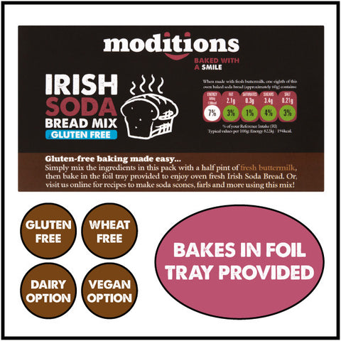 Moditions Gluten Free Irish Soda Bread Baking Mix Dairy Free Vegan