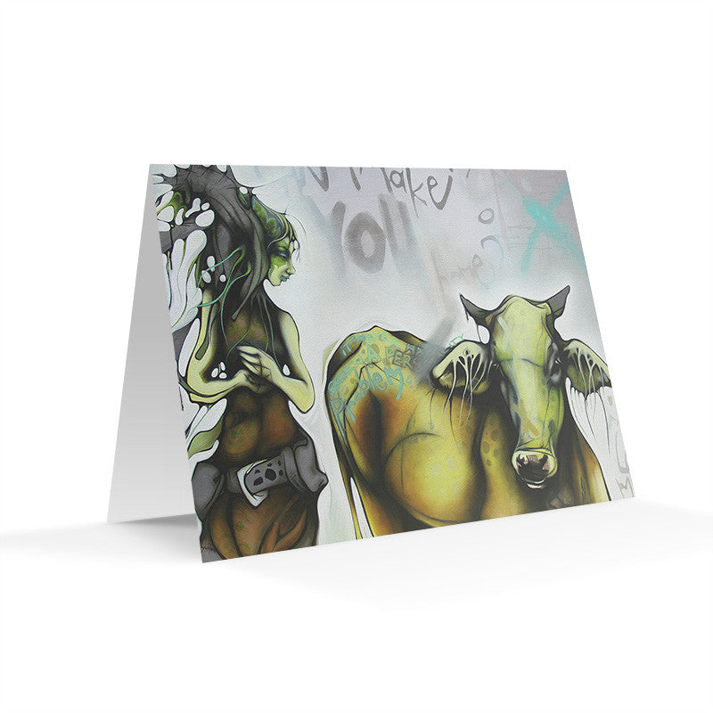 COW GIRL - Art Card