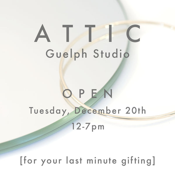 ATTIC Studio | Open for your last minute gifting
