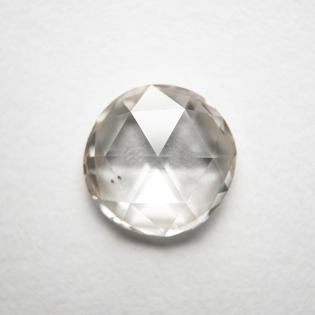 1.25ct 7.71x7.49x2.41mm SI1 Champagne Round Rosecut 18284-04