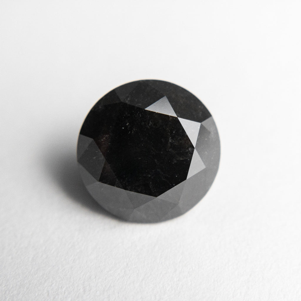 3.38ct 9.02x8.94x6.55mm GIA Fancy Black Round Brilliant Cut 18847-01