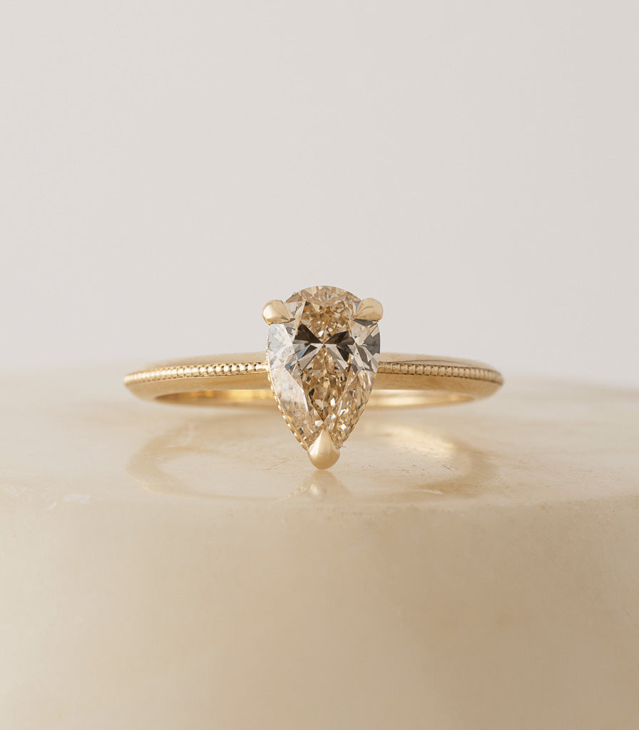 Ali Ring - Champagne Pear Diamond