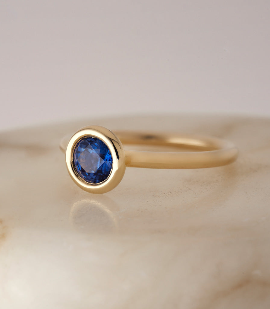 Buoy Ring - Blue Sapphire