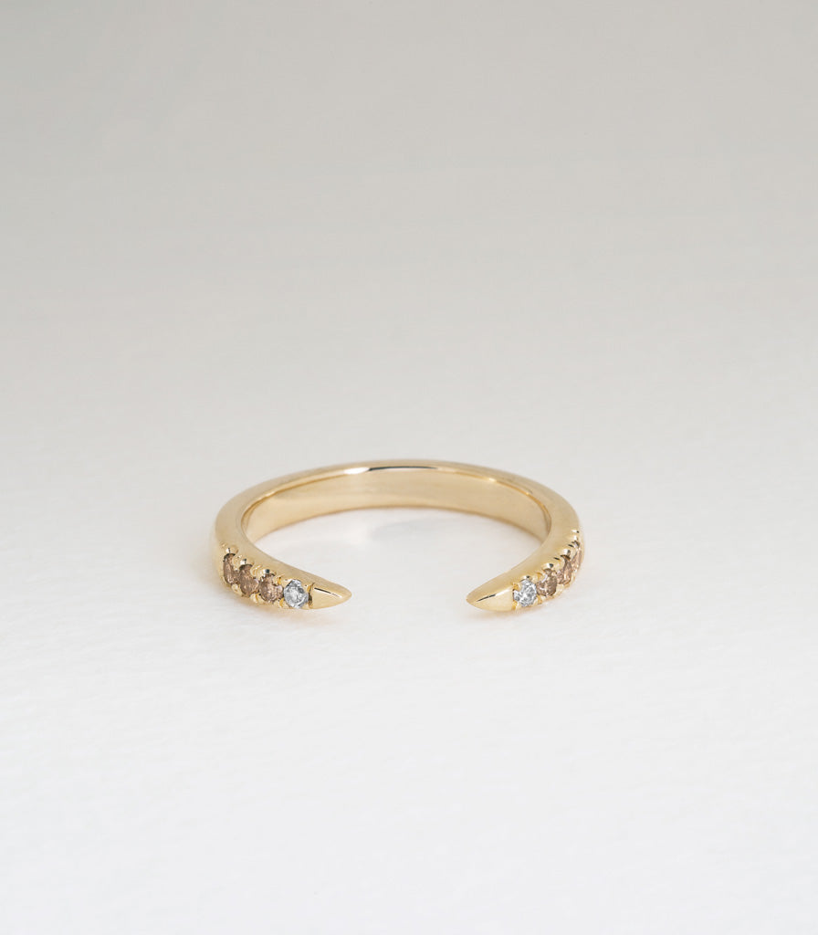 Diamond Torc Ring - Champagne