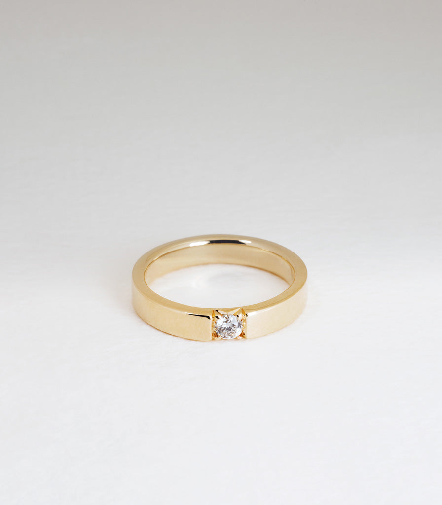 Diamond Slice Ring - Round