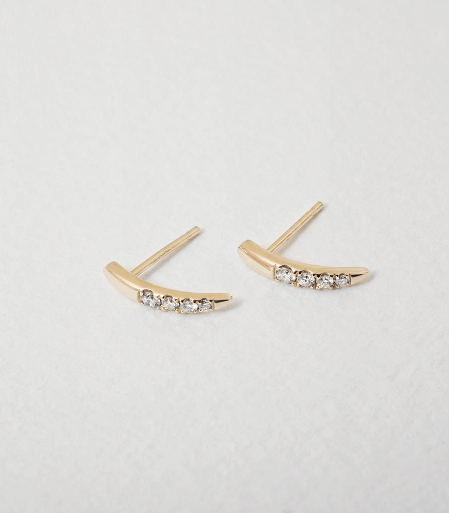 Diamond Torc Earrings