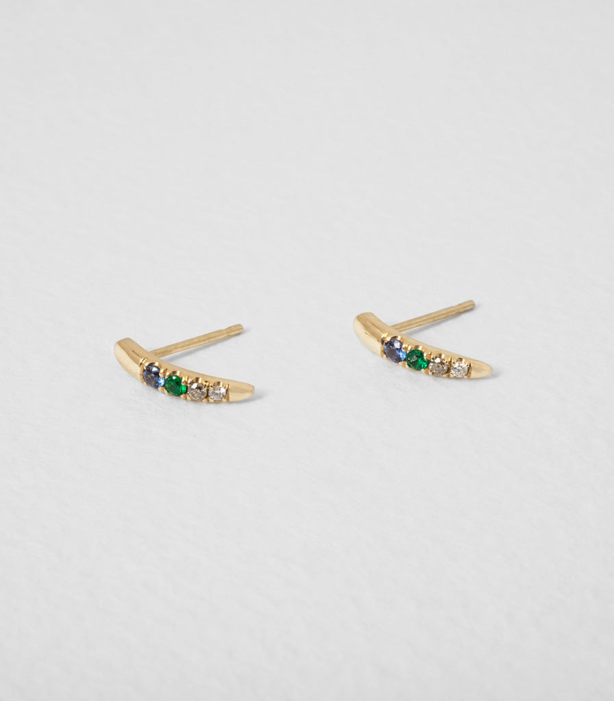 Gemstone Torc Earrings