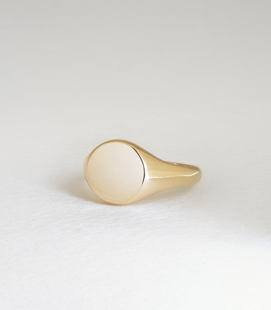 Round Signet Ring - Large